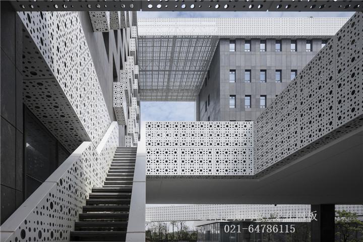 幕墙穿孔铝板/冲孔铝板—上海焦点生物的幕墙