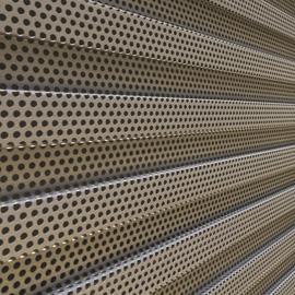 瓦楞穿孔铝板/瓦楞冲孔板/折弯穿孔铝板
