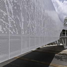 建筑立面穿孔铝板幕墙艺术