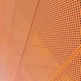 橙色穿孔铝板为什么会被用在建筑外立面呢