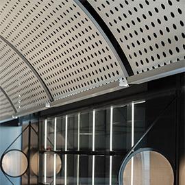 成都火锅店里的吊顶穿孔铝板装饰金属板材