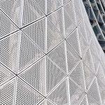 穿孔铝板造型网孔板—启迪数字科技园展示中心