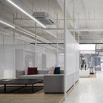 上海材料体验中心白色穿孔铝板隔断装饰网