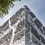 穿孔铝板迷彩住宅-参数化的树枝表皮