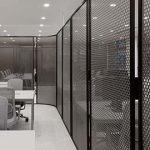 黑色烤漆穿孔铝板室内装饰隔断金属网